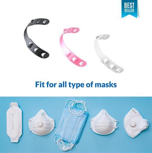 מחזיק מסיכה מתכוונן 6 וריאציות נגד החלקה להקלה באוזניים בעת חבישת מסיכה מתאים לכל המסכות