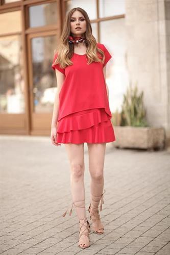חצאית ספין - אדום