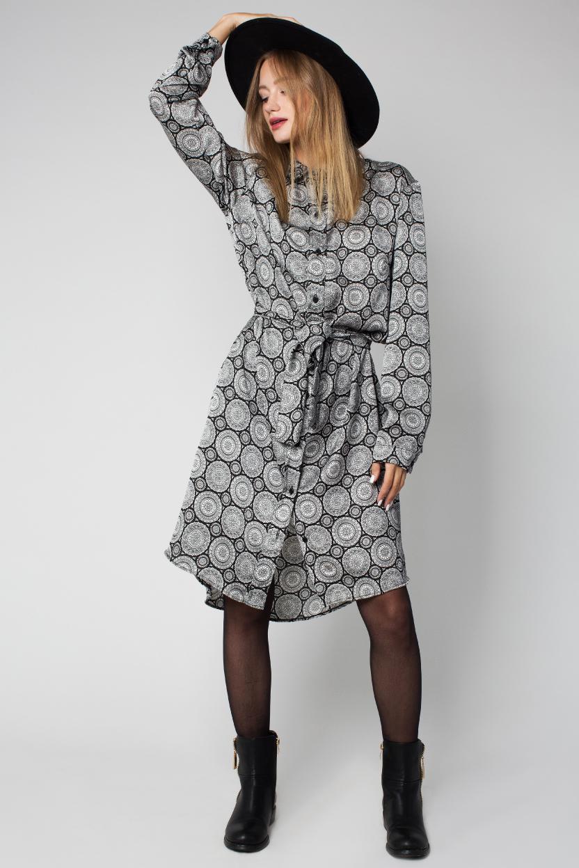 שמלה הדפס בנדנה