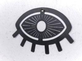 עין טובה ממתכת - שחור