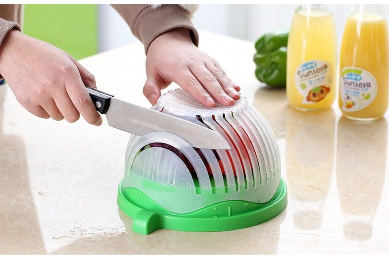 קערה לחיתוך וסינון מהיר של הסלט