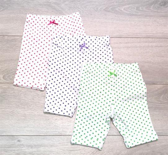 שלישיית מכנסיים ורוד-סגול-ירוק