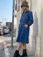 שמלת ג'ינס דגם ג'ניפר