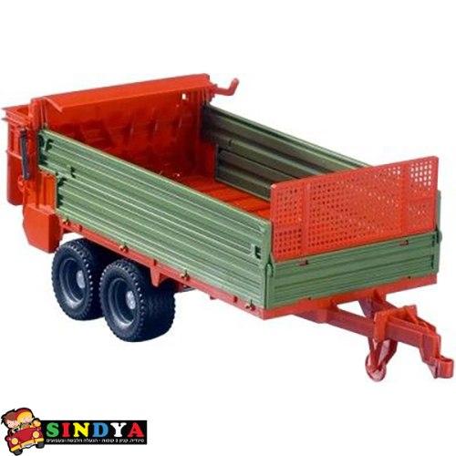 עגלה לטרקטור 02209 ברודר ירוקה ואדומה