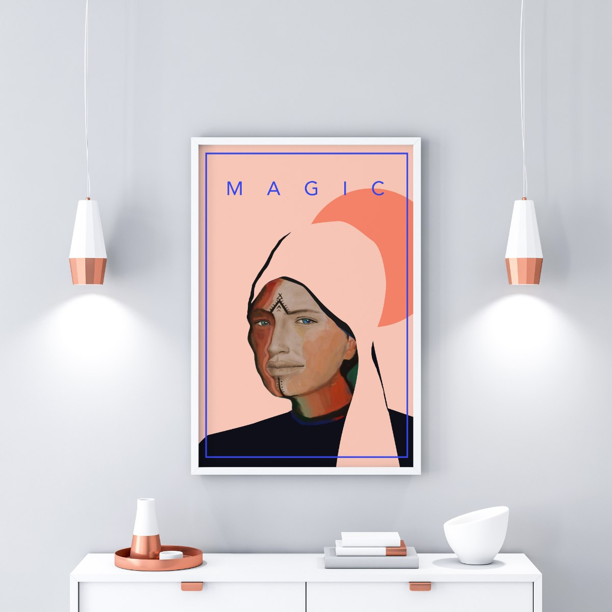 הדפס ציור נייר - magic