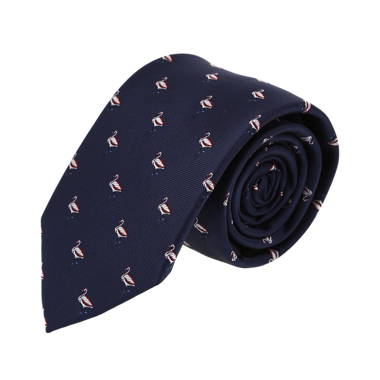 עניבה דגם חסידה כחול