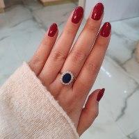 טבעת דגם דיאנה ספיר זרקון