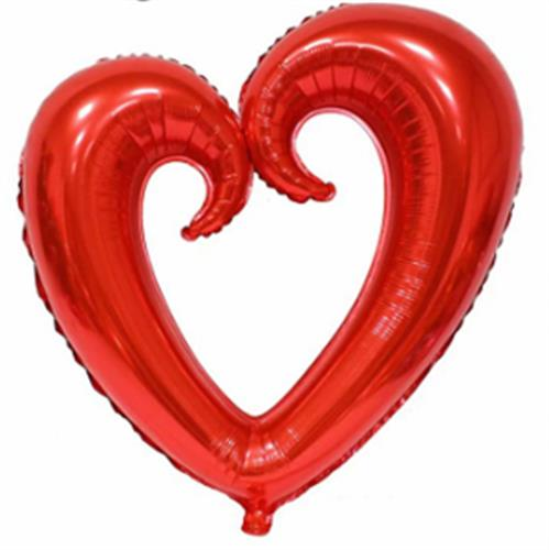 בלון לב חלול 36 צבע אדום מקט מקט140