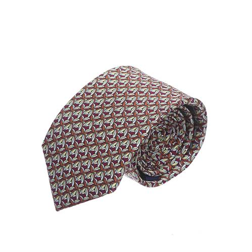 עניבה עלים אדום כתום