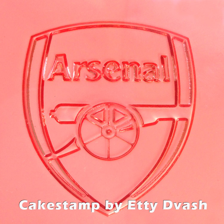 Arsenal logo embossed stamp