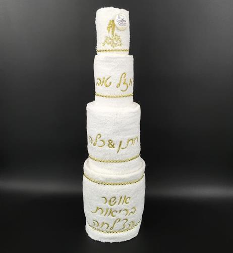 עוגת חתן כלה 4 קומות
