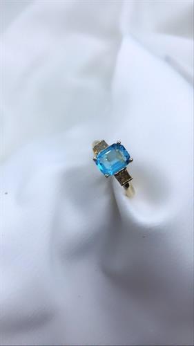 טבעת לילי זהב 14 קראט