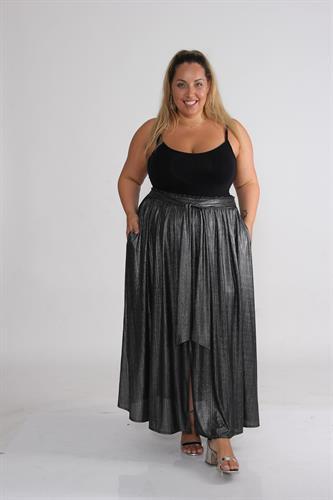 חצאית לורי כסף כהה