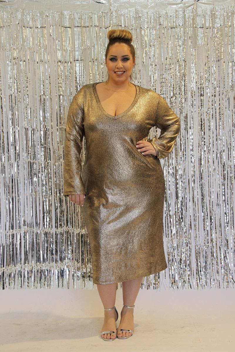 שמלת בודיקון ערב זהב
