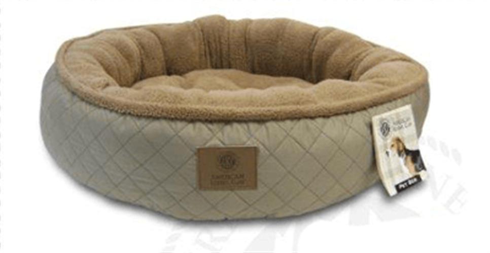 מיטה עגולה פרוותית לכלב קוטר 80 סמ AKC