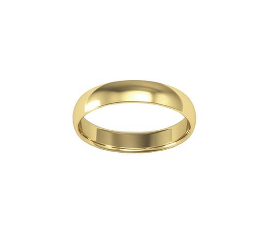טבעת נישואין לגבר זהב צהוב