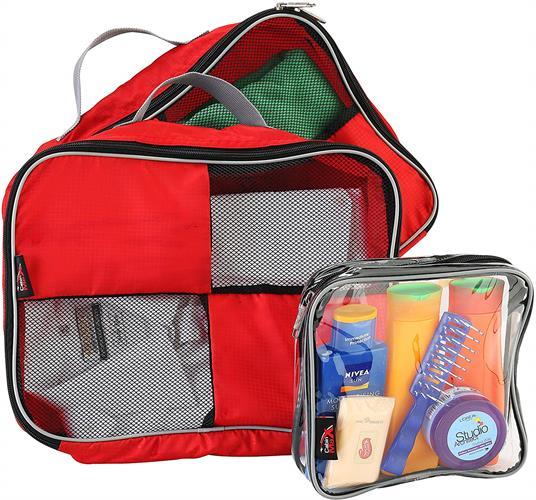 קוביות אריזה סט של 3  CABIN MAX RED- מצויין לארגון התיק או המזוודה