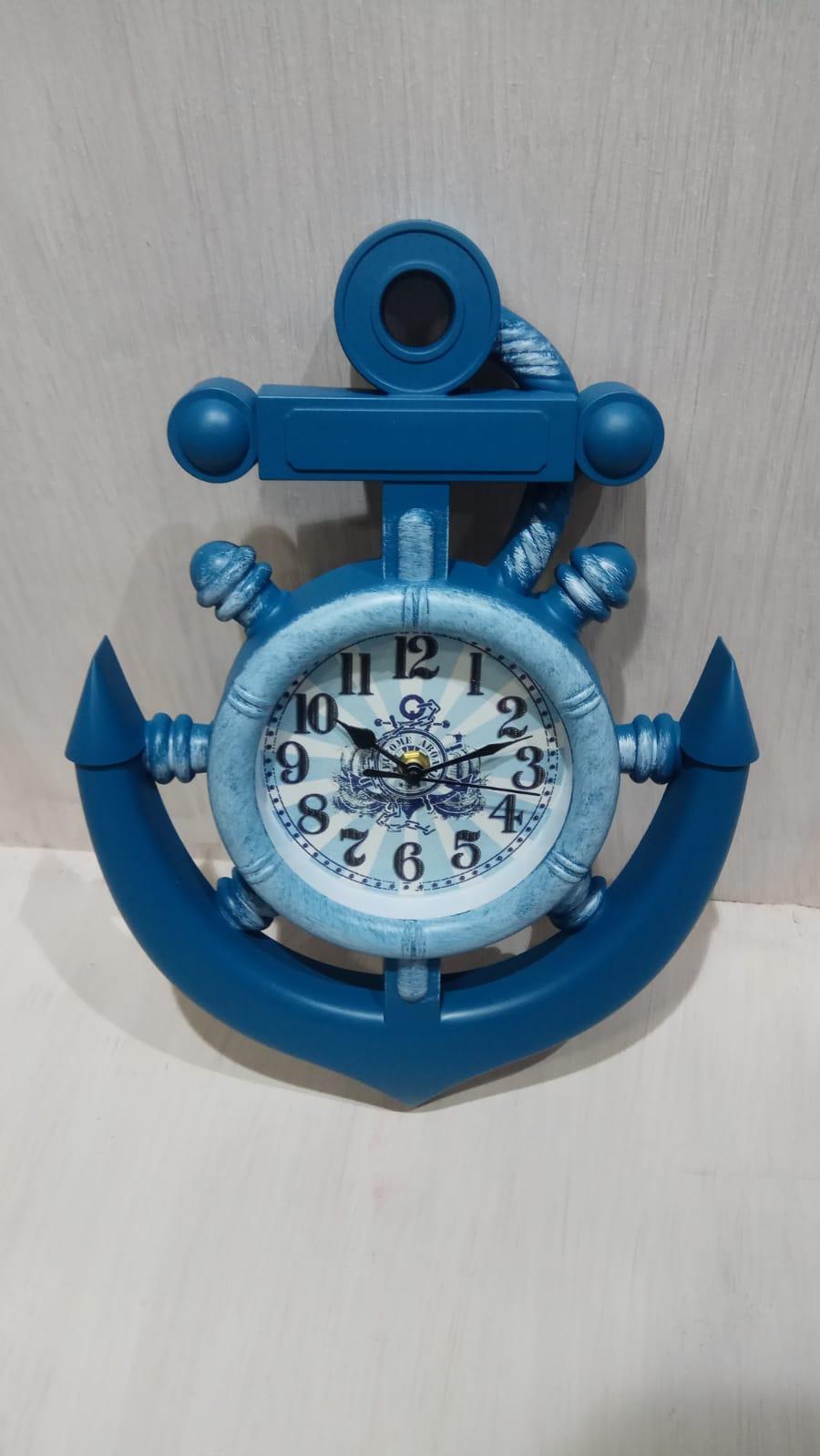 שעון קיר מעוצב צורת עוגן 1504-8