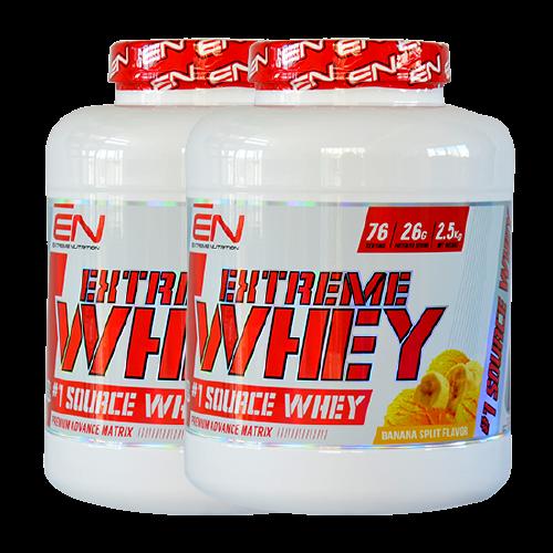 """זוג אבקות חלבון אקסטרים - Extreme Nutrition - סה""""כ 4 ק""""ג"""