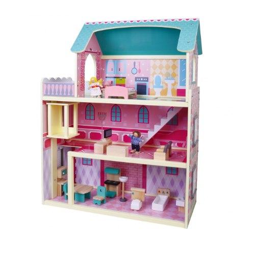 בית בובות תלת קומתי עם מעלית Pit Toys