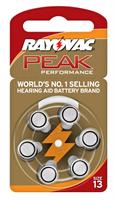 סוללות למכשיר שמיעה Rayovac  אנגליה - מידה 13