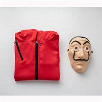 תחפושת מלאה של בית הנייר - מסכה + חליפה