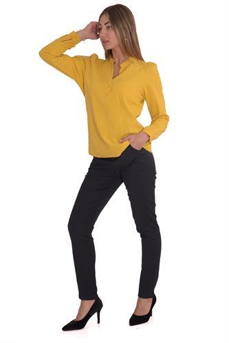 מכנס אלגנט בגזרה גבוהה בצבע שחור