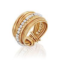 טבעת ספירלי צהוב חרוזים