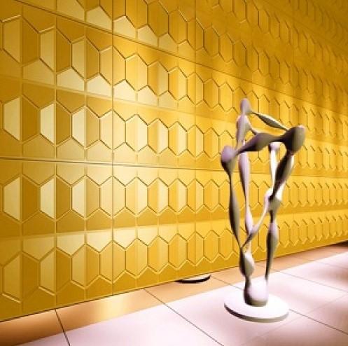 """חיפויי קיר תלת מימדי דגם ''comb'' בגודל 62.5*80 ס""""מ"""