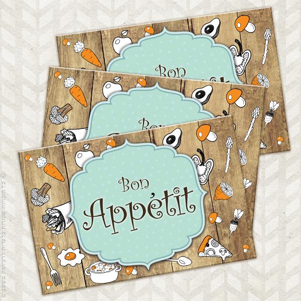 פלייסמנטים מודרני Bon Appetit   פלייסמנט   ראנר   מתנה   רעיונות למתנות   מתנה לגננת   מתנות סוף שנה