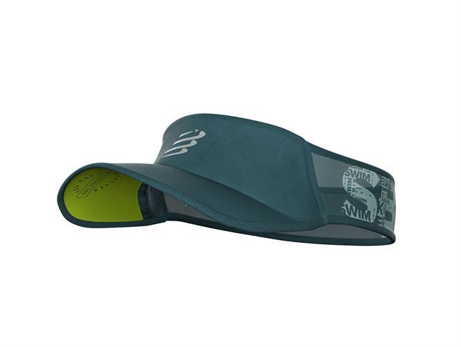 מצחיות טריאתלון צבע חדש אפור-ירוק