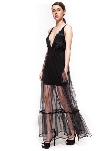 שמלת אמבר שחור