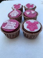 מארז מאפינס שוקולד ליולדת בת - ללא קמח חיטה