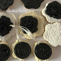 CHANEL inspired Chandelier frame cookie stamp
