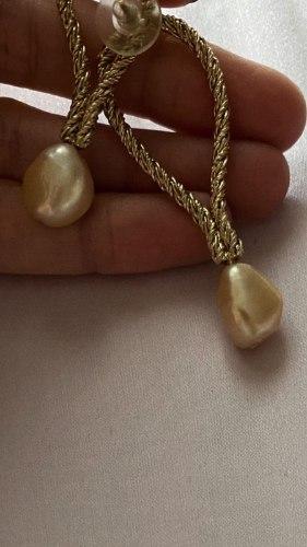 עגילי קמיל זהב פנינה שנהב