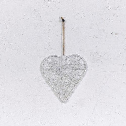 לב מיתרי ברזל - לבן