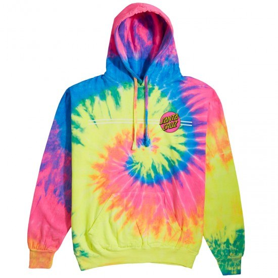 Santa Cruz Womens Other Dot Boyfriend Hoodie Neon Rainbow