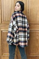 ג'קט/חולצת משבצות אינדיאנה