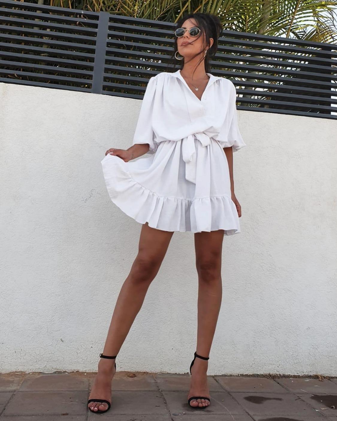 שמלת ג׳ודית - לבנה