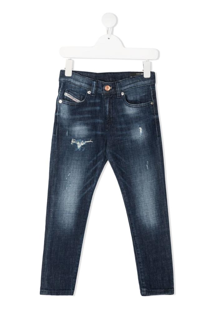 ג׳ינס עם קרעים כחול כהה DIESEL בנים - 4-16 שנים