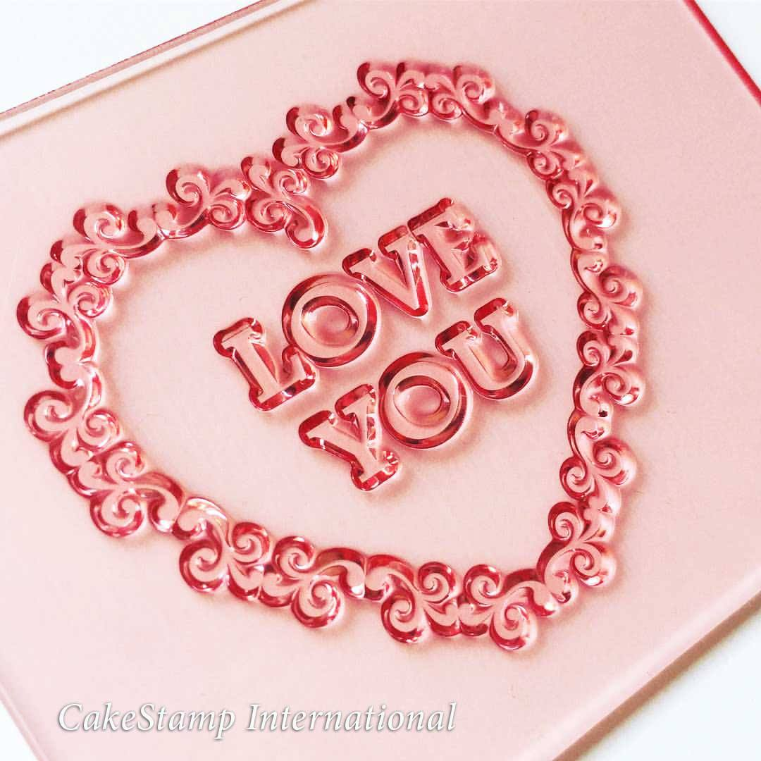Floral - I Love You stamp