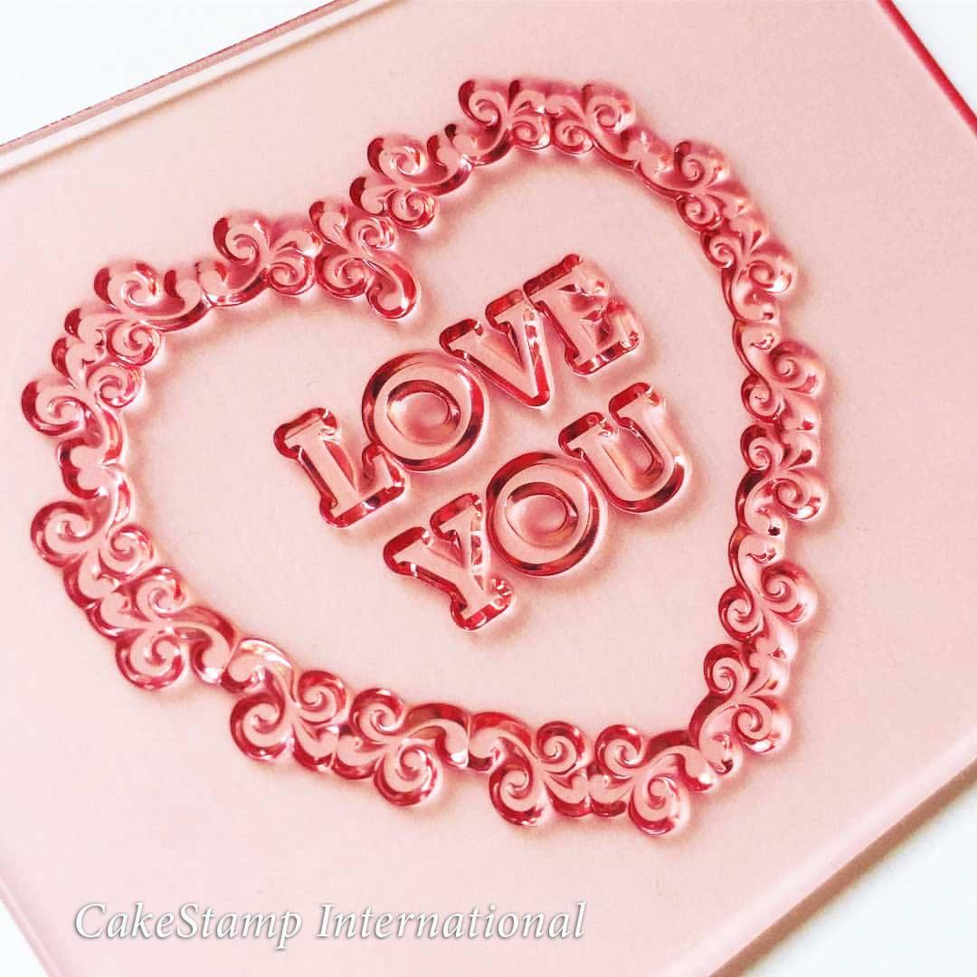 Floral - I Love You stamp