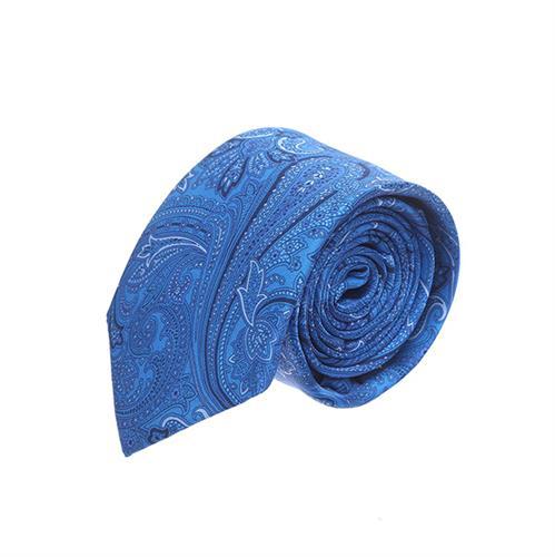 עניבה פייזלי כחול ים