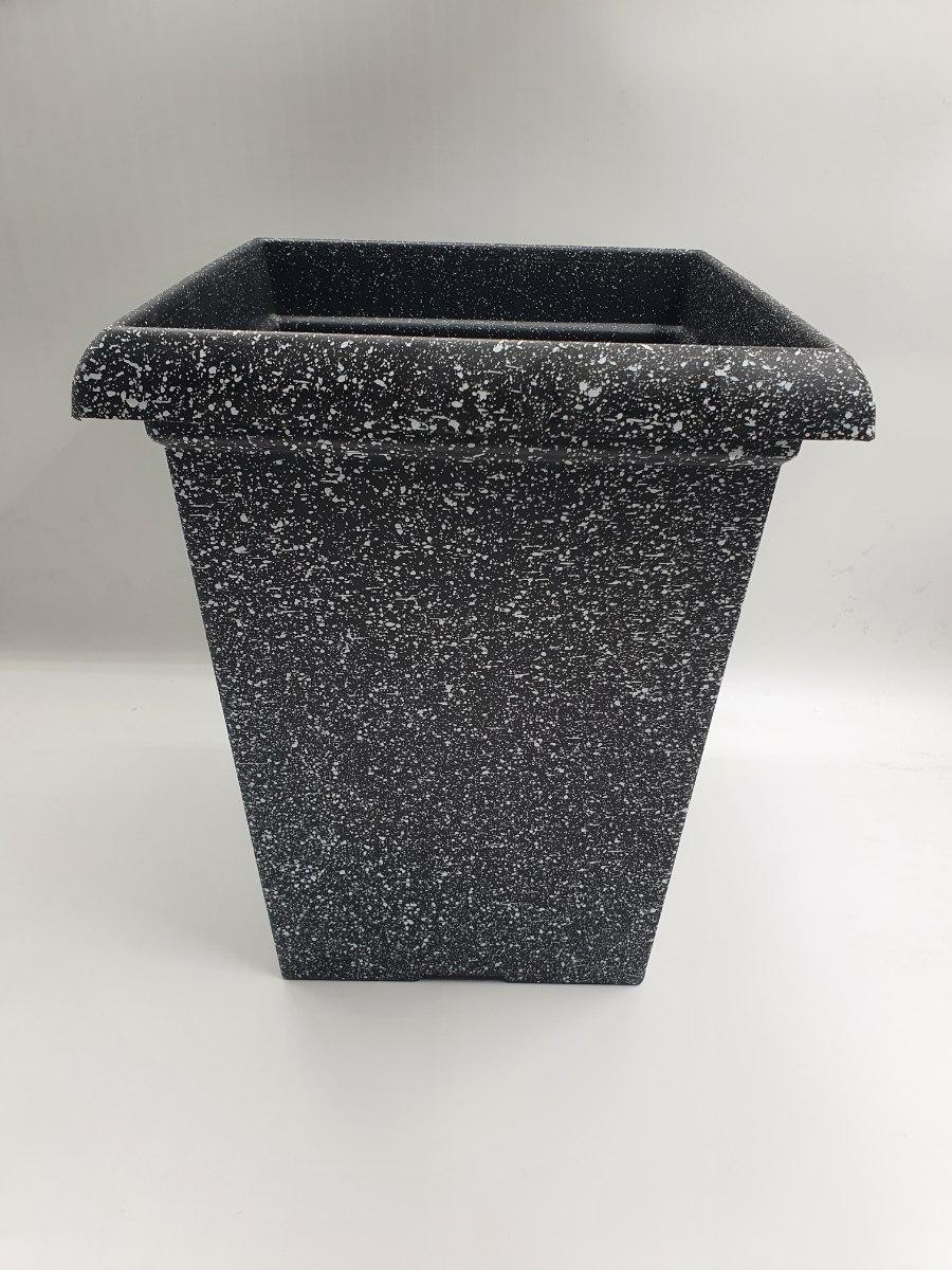 עציץ פלסטיק דמוי אבן מרובע מידות 33X27