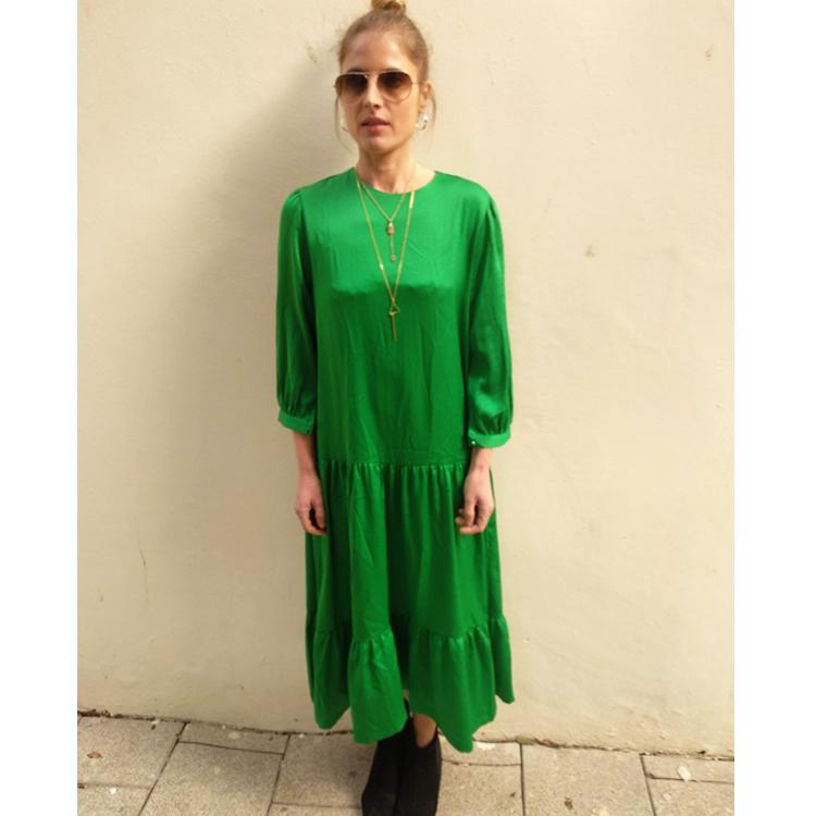 שמלת מורגאן ירוק דשא