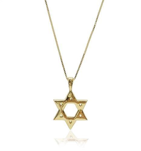 שרשרת ותליון מגן דוד זהב