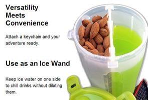 Dual Protein Powder Shaker-להיט חדש דאבל שייקר-איכות פלטינום