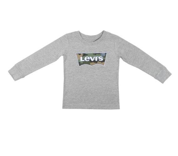 טי שירט אפורה לוגו LEVIS צבאי - 1-15