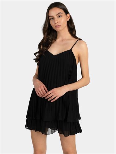 שמלת אוברול פליסה GUESS שחורה