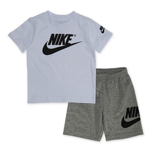 חליפת ספורט לבן/אפור NIKE בנים - 1-7 שנים